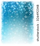 snow christmas background | Shutterstock .eps vector #326492348