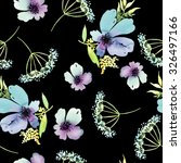 seamless pattern with flowers... | Shutterstock . vector #326497166