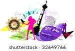 banner modern life | Shutterstock .eps vector #32649766