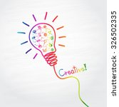 creative light bulb handwriting | Shutterstock .eps vector #326502335