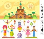 castle of children happiness.... | Shutterstock .eps vector #326502632