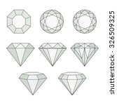 set of isolated gem stones... | Shutterstock .eps vector #326509325