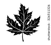 silhouette of the maple leaf.... | Shutterstock .eps vector #326511326