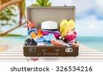 summer suitcase. | Shutterstock . vector #326534216