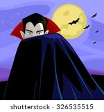 illustration of a vampire... | Shutterstock .eps vector #326535515