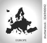 map of europe | Shutterstock .eps vector #326540042