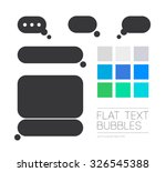 collection of flat text...