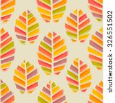 autumn leaves watercolor style... | Shutterstock .eps vector #326551502