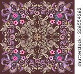 Bandanna With Beige And Lilac ...