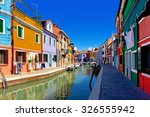 colorful houses at daytime in... | Shutterstock . vector #326555942
