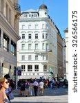 vienna  austria august 29  the... | Shutterstock . vector #326566175