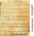 Aged Sheet Music Vector...