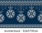 christmas and new year knitting ... | Shutterstock .eps vector #326575016