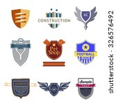 set logo templates with a... | Shutterstock . vector #326576492