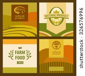 set of eco food and farm logo ... | Shutterstock . vector #326576996