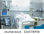 Icu Room In A Hospital With...