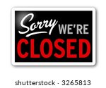 sorry closed sign | Shutterstock . vector #3265813