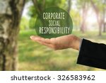 corporate social responsibility ... | Shutterstock . vector #326583962
