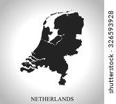 map of netherlands | Shutterstock .eps vector #326593928