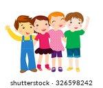 group of kids | Shutterstock .eps vector #326598242