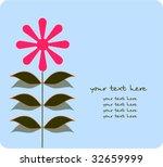 vector floral card | Shutterstock .eps vector #32659999