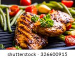 grilled chicken breast in... | Shutterstock . vector #326600915