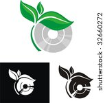 environmental cd  dvd  blue ray ... | Shutterstock .eps vector #32660272