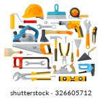 construction tools set of... | Shutterstock .eps vector #326605712