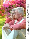 loving mature couple  in a... | Shutterstock . vector #326623145