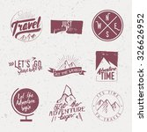 vintage typographic travel  ... | Shutterstock .eps vector #326626952