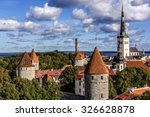 panoramic view of tallinn old... | Shutterstock . vector #326628878