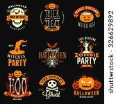 set of retro vintage happy... | Shutterstock .eps vector #326629892