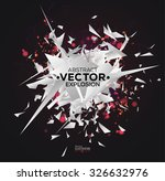 abstract explosion with...   Shutterstock .eps vector #326632976