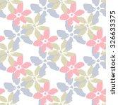 cute flowers. seamless pattern   Shutterstock .eps vector #326633375