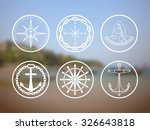 retro nautical labels and icons.... | Shutterstock .eps vector #326643818