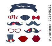 party photo props. includes... | Shutterstock .eps vector #326648282