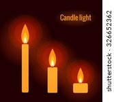 burning candle on the dark... | Shutterstock .eps vector #326652362