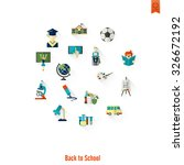 school and education icon set.... | Shutterstock . vector #326672192