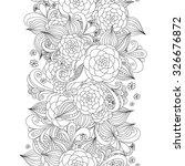 vector doodle flowers seamless... | Shutterstock .eps vector #326676872
