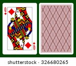 Queen Of Diamonds Playing Card...