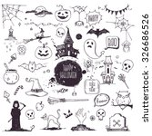 hand drawn halloween... | Shutterstock .eps vector #326686526