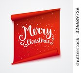 merry christmas card. isolated... | Shutterstock .eps vector #326689736