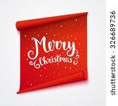 Merry Christmas Card. Isolated...