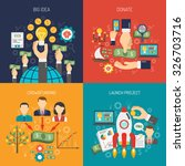 crowdfunding design concept set ... | Shutterstock .eps vector #326703716