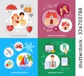 insurance concept icons set...   Shutterstock .eps vector #326703788