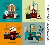 law design concept set with... | Shutterstock .eps vector #326703812