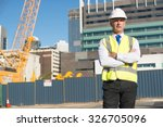 confident construction engineer ... | Shutterstock . vector #326705096