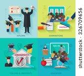 higher education design concept ... | Shutterstock .eps vector #326709656