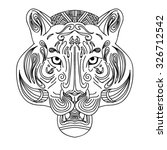 black and white vector sketch... | Shutterstock .eps vector #326712542