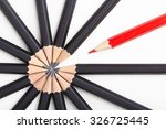 red pencil standing out from... | Shutterstock . vector #326725445
